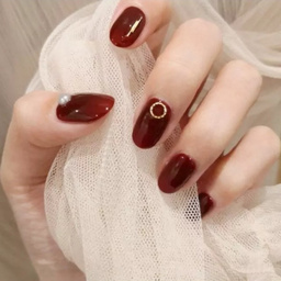 - 秋冬纯色小镶嵌巨显白
