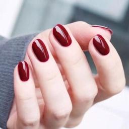 - 酒红显白纯色万博体育手机版(可换色)