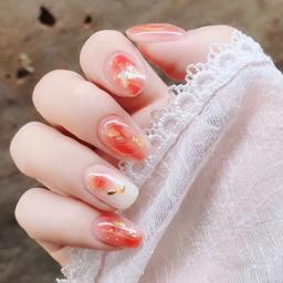 - 网红秋冬显白气质时尚晕染镶嵌甲