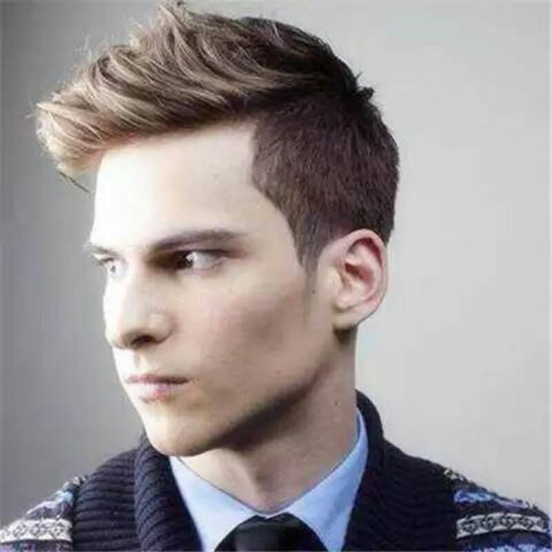 - 帅气男神生活、上班都适合发型